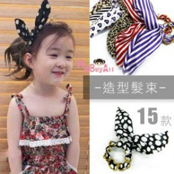 【親子款造型多功能配件】是髮飾也是手鍊裝扮不可少-風靡韓國最IN造型配件-兔耳鎖鏈髮束髮飾/兒童配件☆