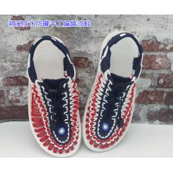 獨家新款手工打造不一般的編織鞋(國徽國旗編織涼鞋) ,運動凉鞋平底凉鞋羅馬凉鞋情侶溯溪涉水鞋防曬防意防風雨