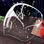 防藍光抗UV太空面罩【升級防霧高透明款】護目面罩鏡片透明 護目鏡 (百葉窗款)戴 眼鏡 可使用 工業安全標章/安檢合格 防粉塵/飛沫/飛濺物/噴濺物 防疫必備