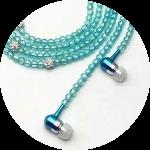 【手機 週邊百貨用品系列】珍珠項鍊時尚有線耳機麥 麥克風耳機 運動入耳有線耳機 安全是回家唯一的路